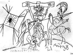 Imagini pentru la crucifixion picasso