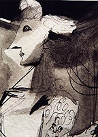 Related Picassos - Le Meurtre, 1934 and The Death of Marat ...
